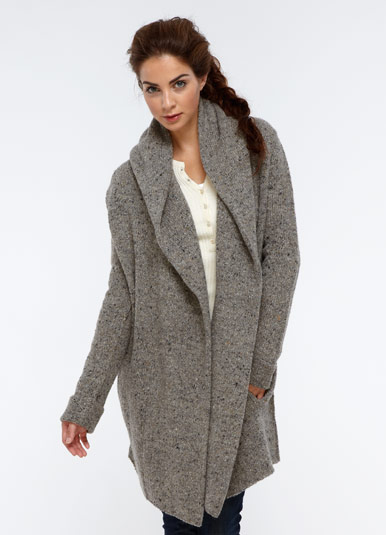 Tweed Sweater Coat | WhyDid.com