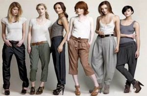 women in pants