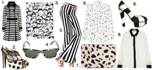 black and white pattern clothing