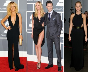 grammys black dresses 2012