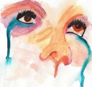 dripping eyes