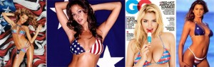 celebrities in flag bikinis