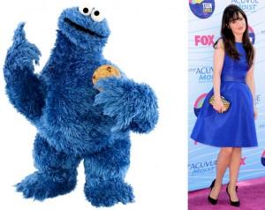 zooey-deschanel-cookie-monster