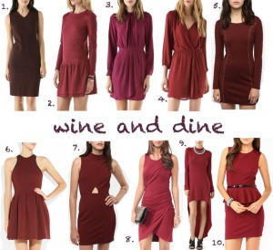 fall 2012 wine dresses burgundy