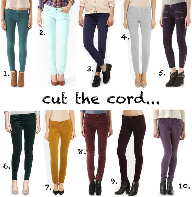 colored-corduroy-pants-fall-2012 | WhyDid.com