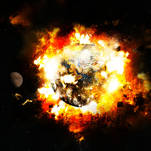 the earth explodes