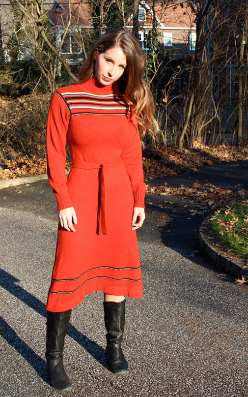 red sweater dress kirsten smith