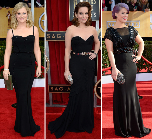 black dresses sag awards 2013