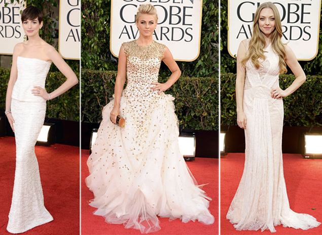 golden globes 2013 white dresses