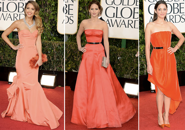 tangerine dresses golden globes 2013