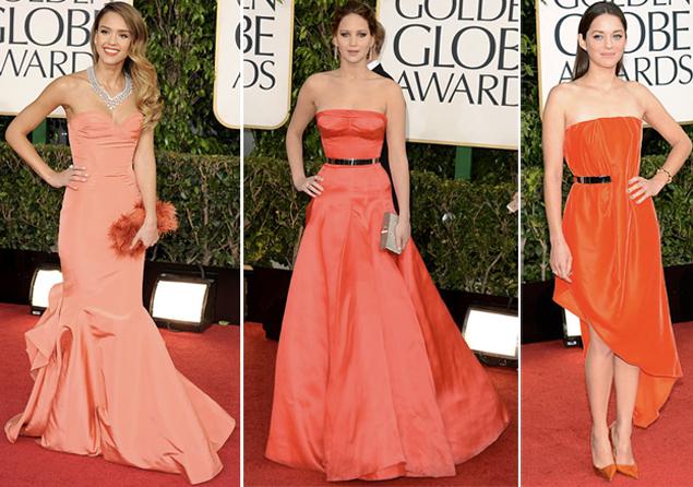 tangerine dresses golden globes 2013