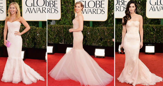 golden globes 2013 blush dresses
