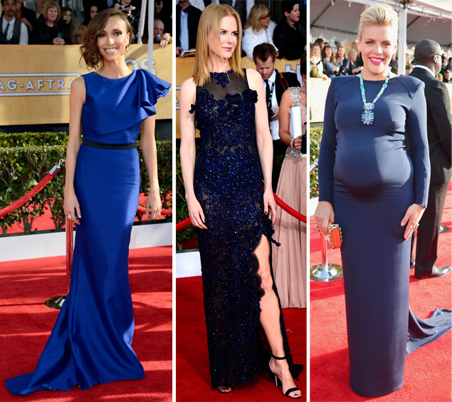 navy dresses best sag 2013 awards