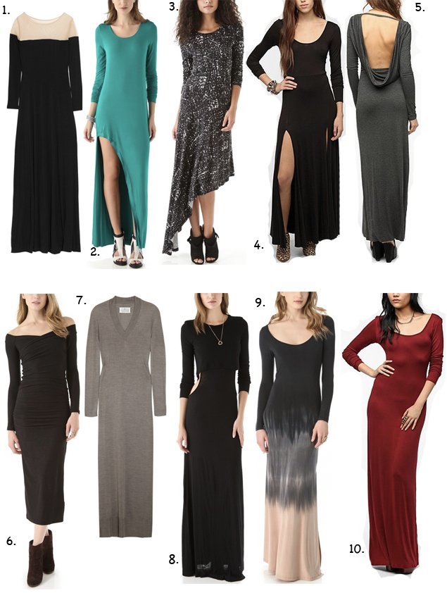 maxi dresses winter