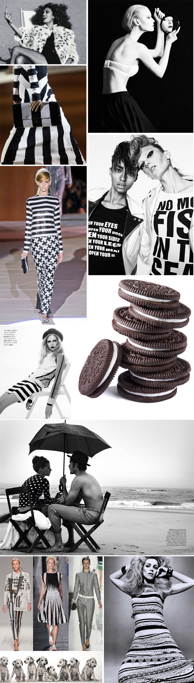 black and white spring trends