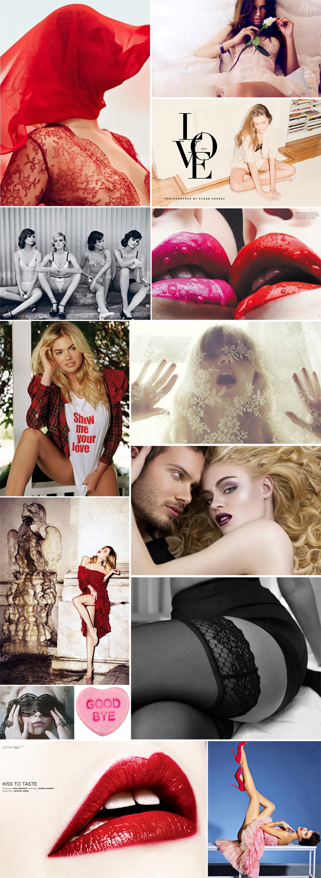 valentines editorial mood board