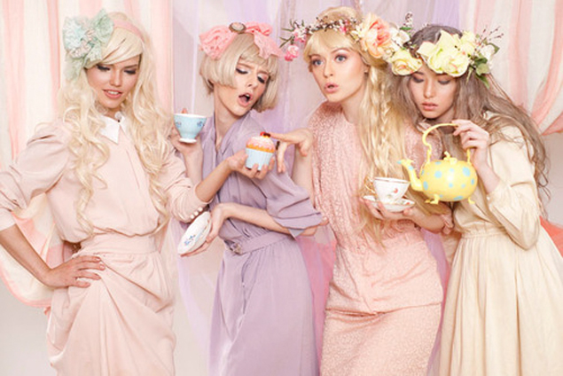 pastel tea party