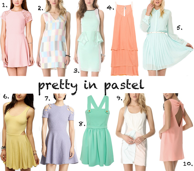 pastel dresses