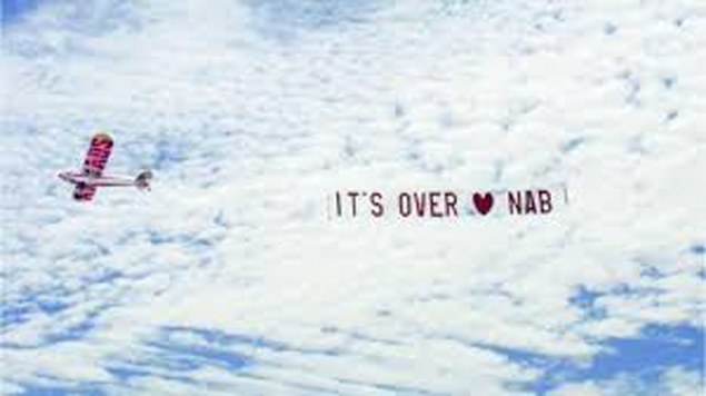 break up skywriting