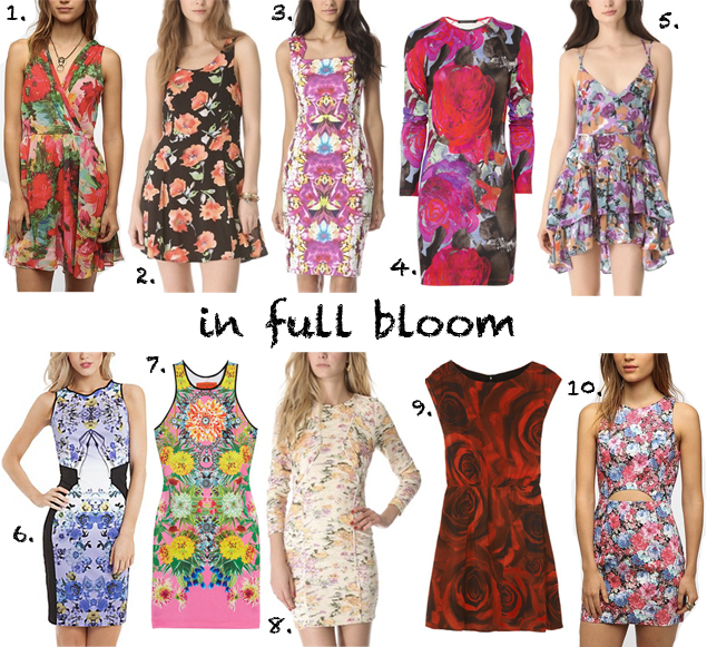 flower printed dresses