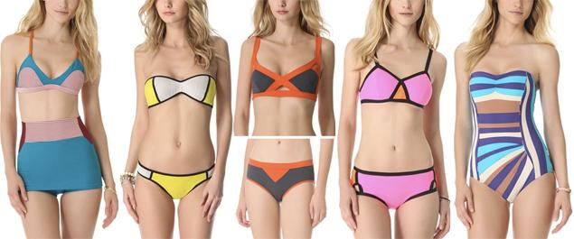 colorblock bikinis