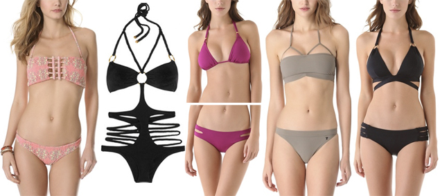 cutout bikinis bathing suits