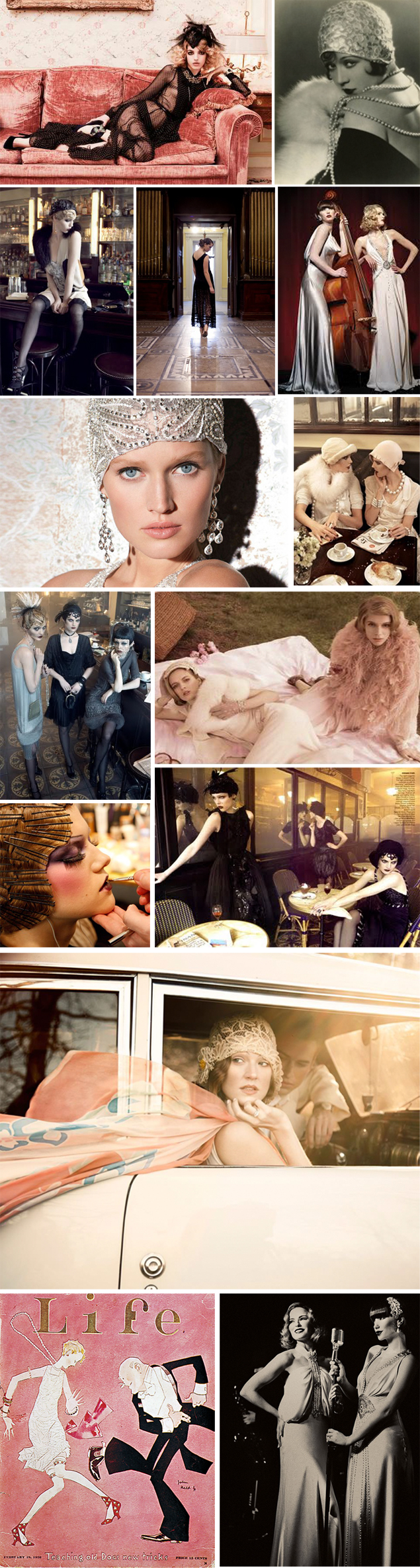 1920 flapper inspiration mood board