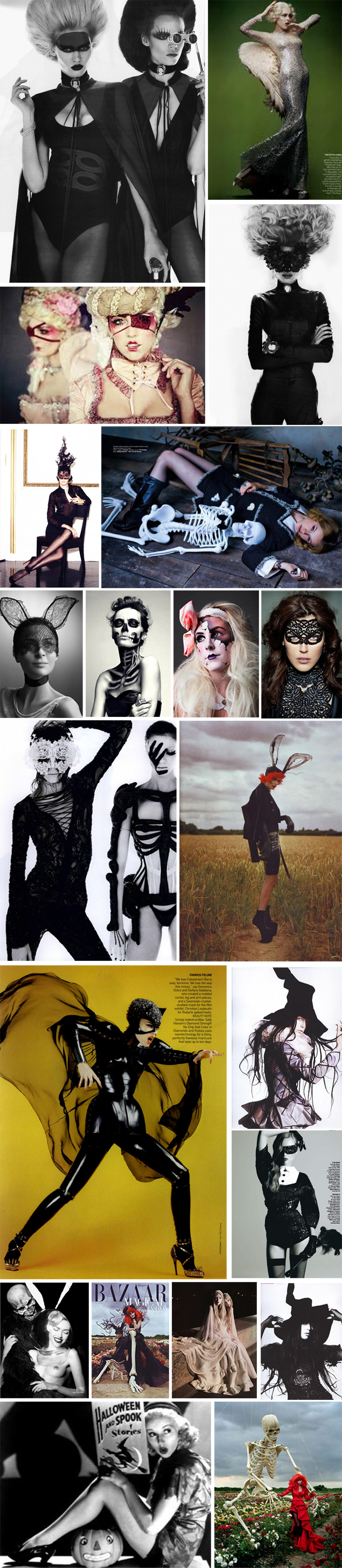 halloween mood board fashion