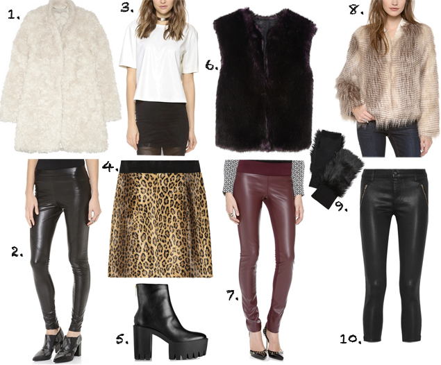 faux leather faux fur