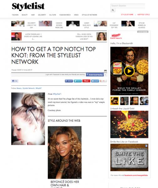 top knot stylelist