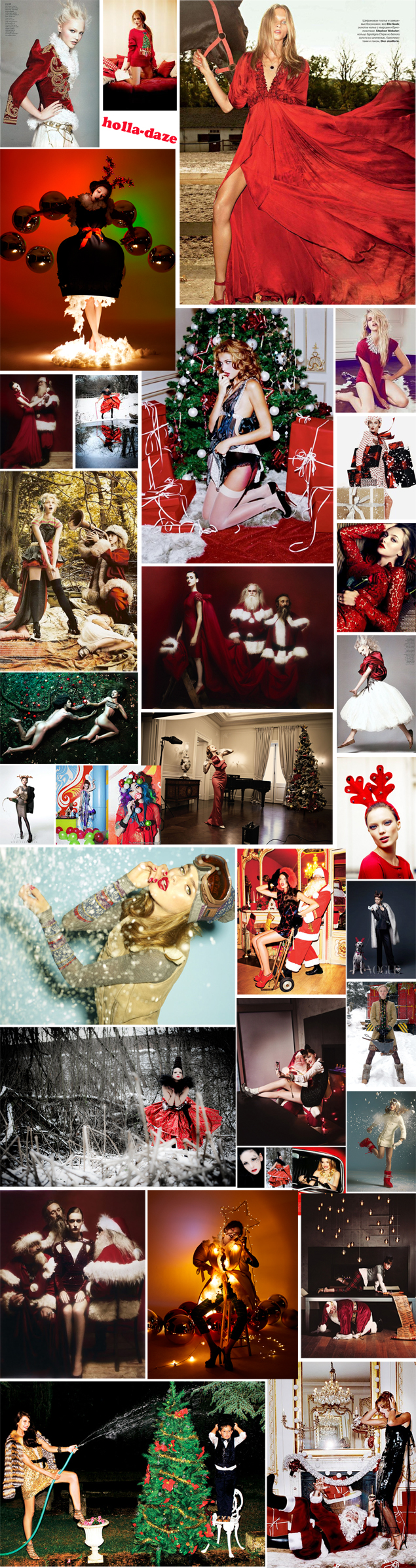 christmas fashion editorial