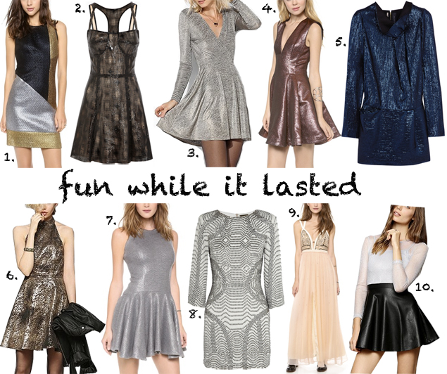 metallic gatsby dresses nye