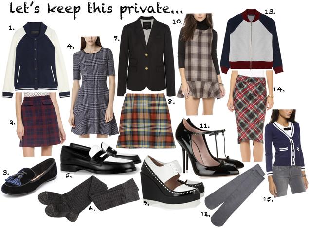 plaid fashion clothing