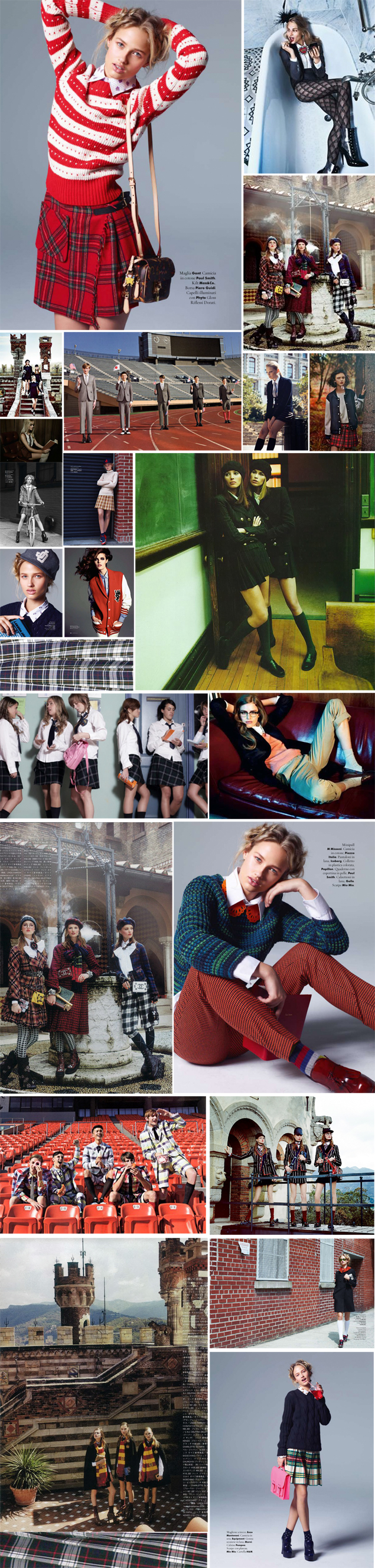 plaid uniform editorial
