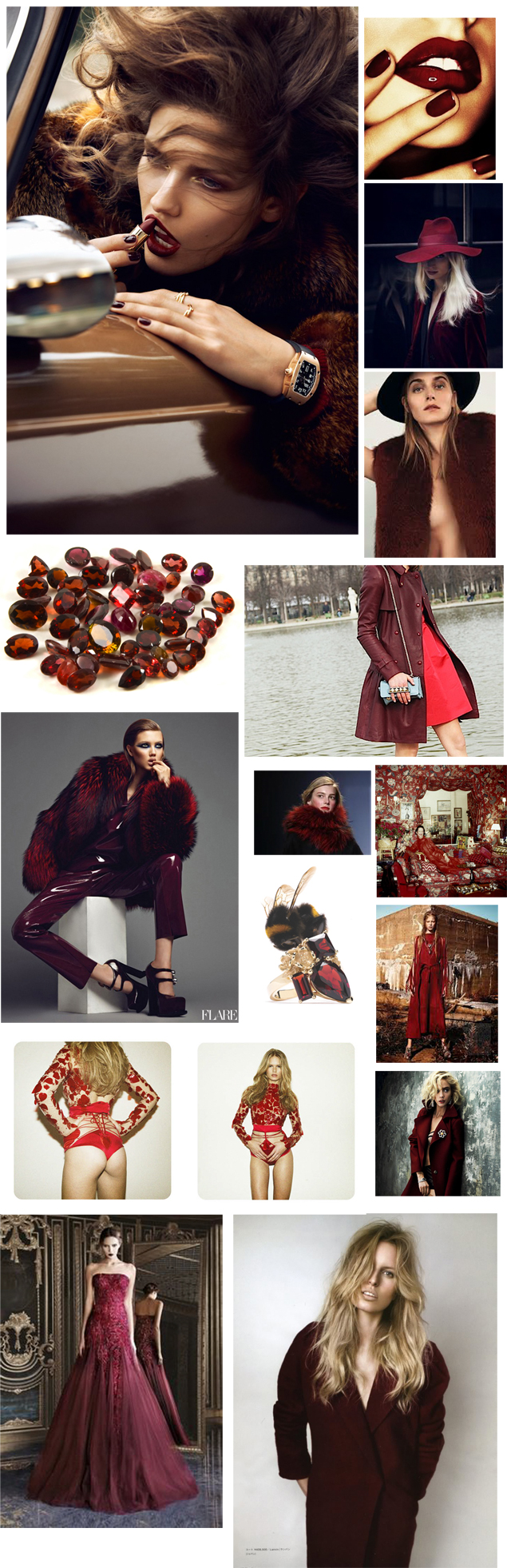 garnet burgundy oxblood inspiration board