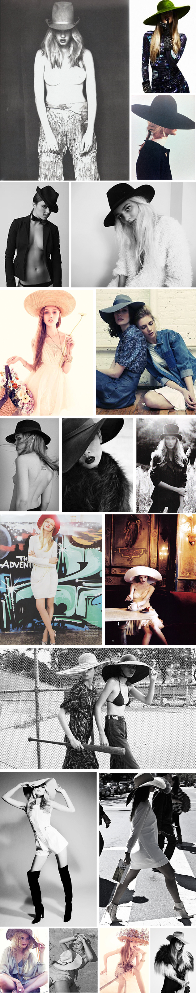 hat fashion editorial