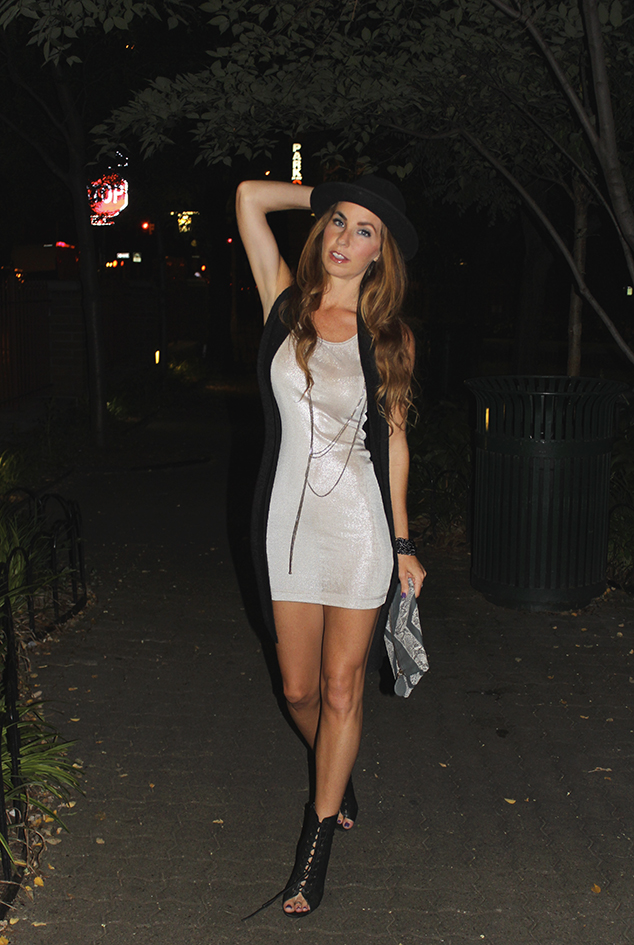 metallic dress hat bolwer nyc