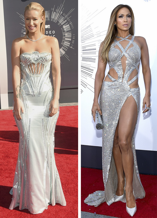iggy azalea jennifer lopez red carpet vma