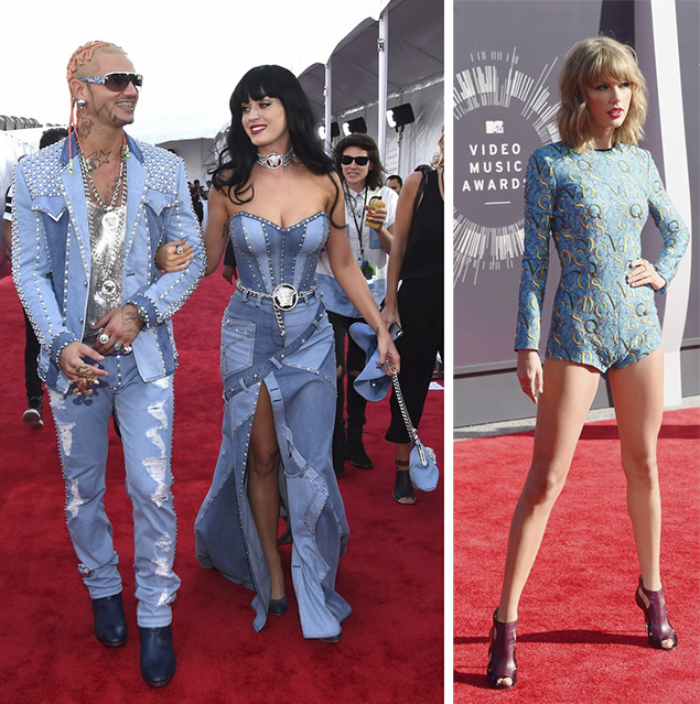 katy perry riff raff taylor swift mtv vma red carpet