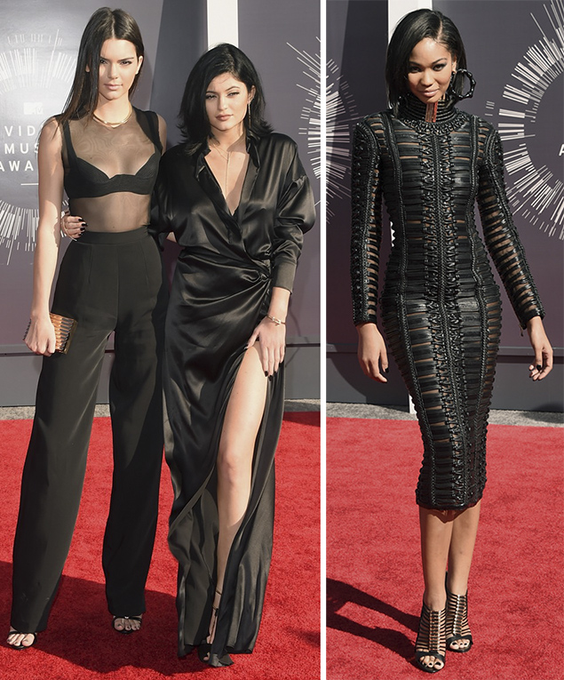 kendall kylie jenner red carpet chanel iman