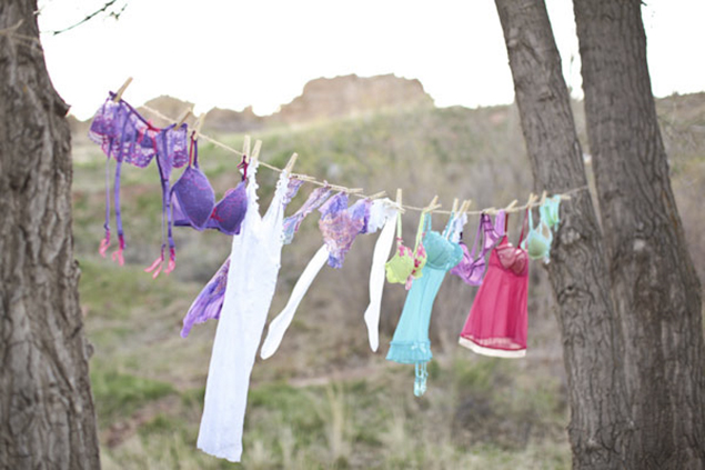 lingerie clothesline bridal shower