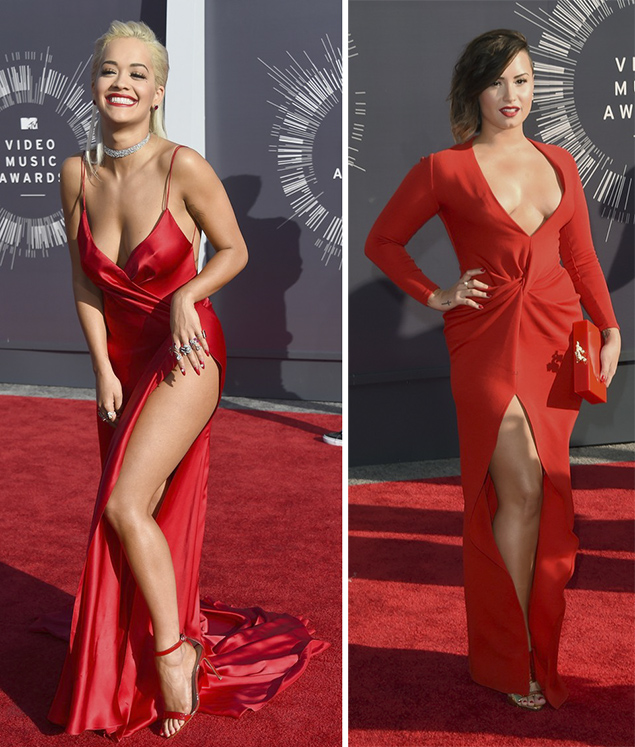mtv vmas rita ora demi lovato red carpet