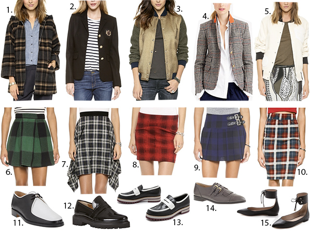 best plaid skirts fall