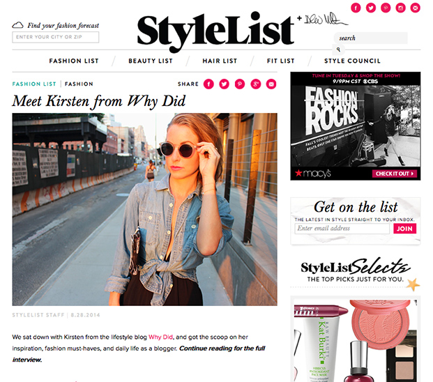 stylelist kirsten smith why did blog
