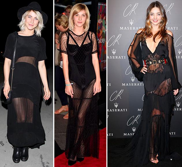 celebrity sheer dresses