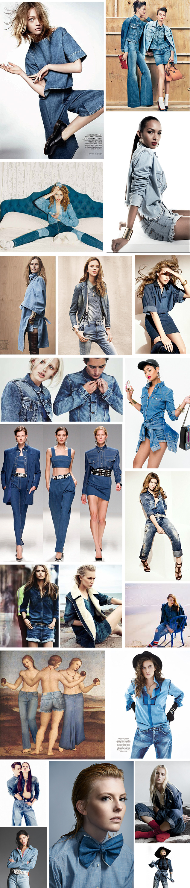 denim on denim fashion editorial