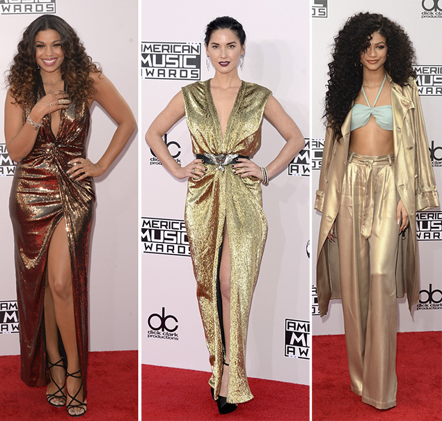 jordin sparks red carpet american music awards