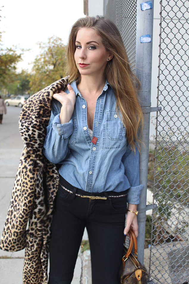 jeans and denim shirt