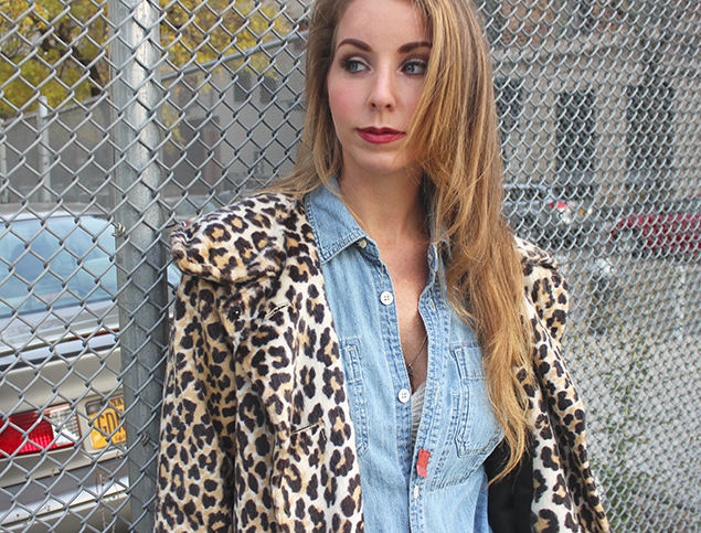 denim on denim leopard jacket