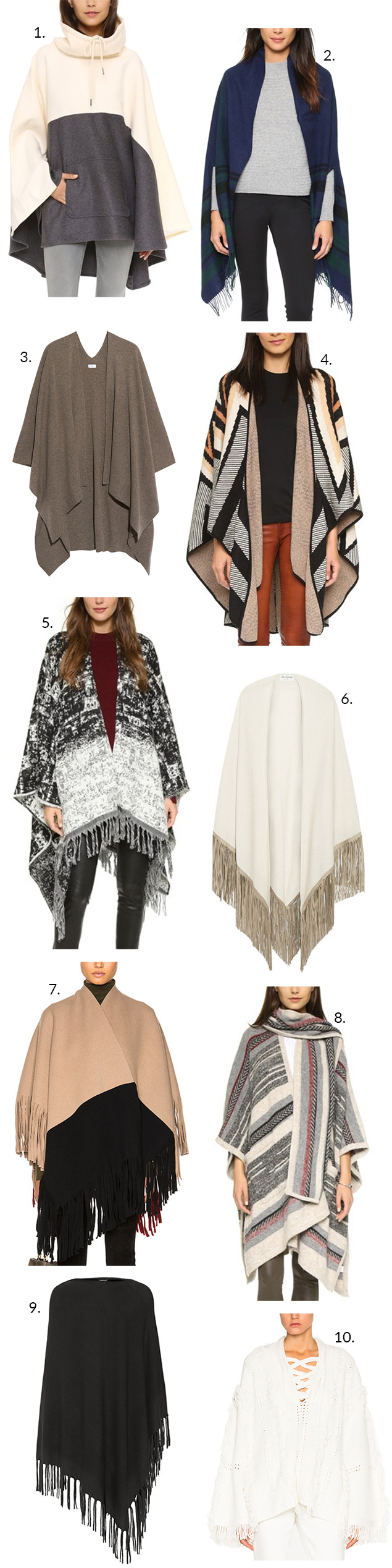 ponchos fall 2015 trends